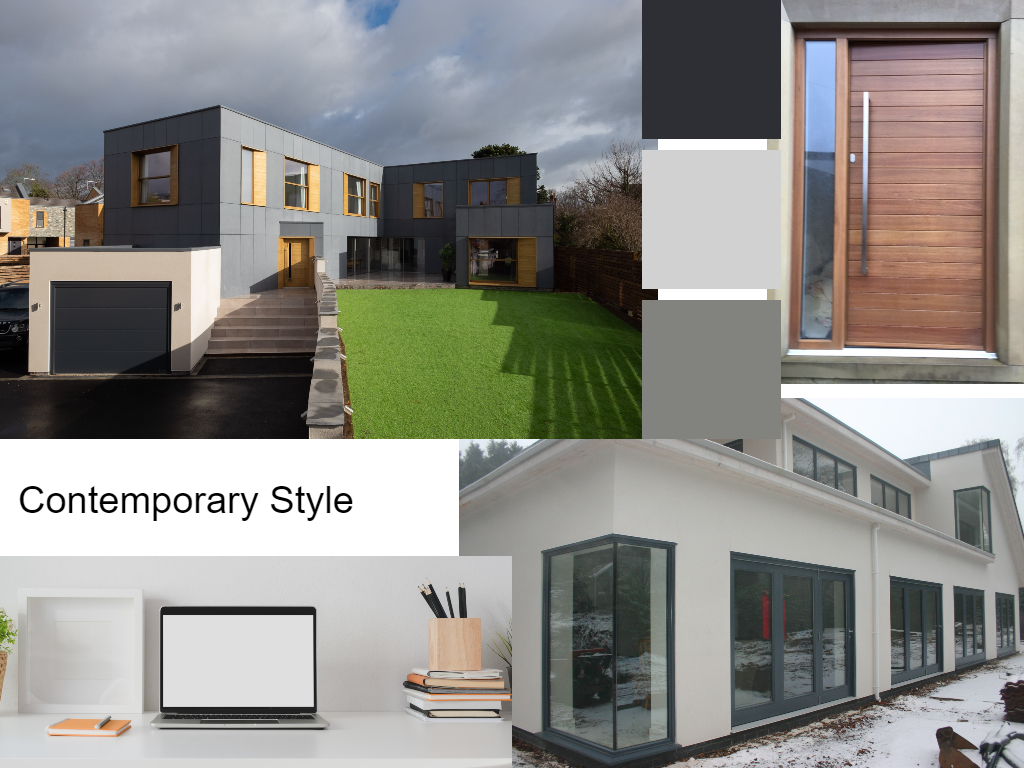 compilation of various shots of Contemporary house