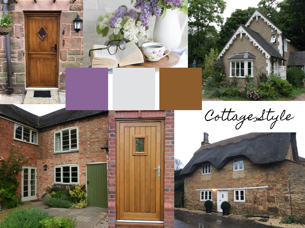 compilation of various shots of cottage home