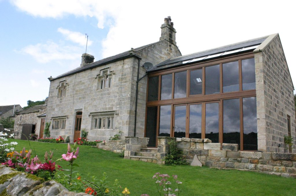 Home with large windowed extension