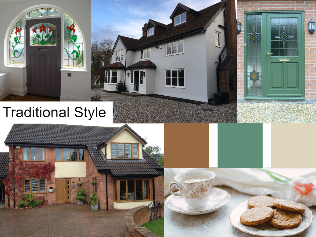 compilation of various shots of traditional house
